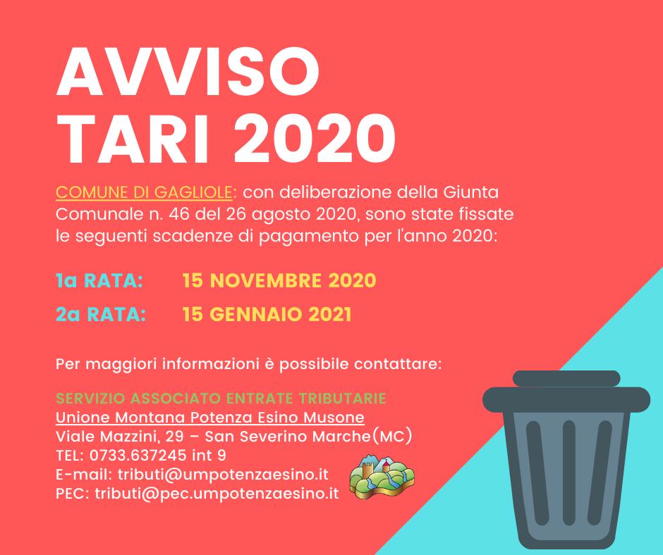 AVVISO TARI 2020 - GAGLIOLE (1)
